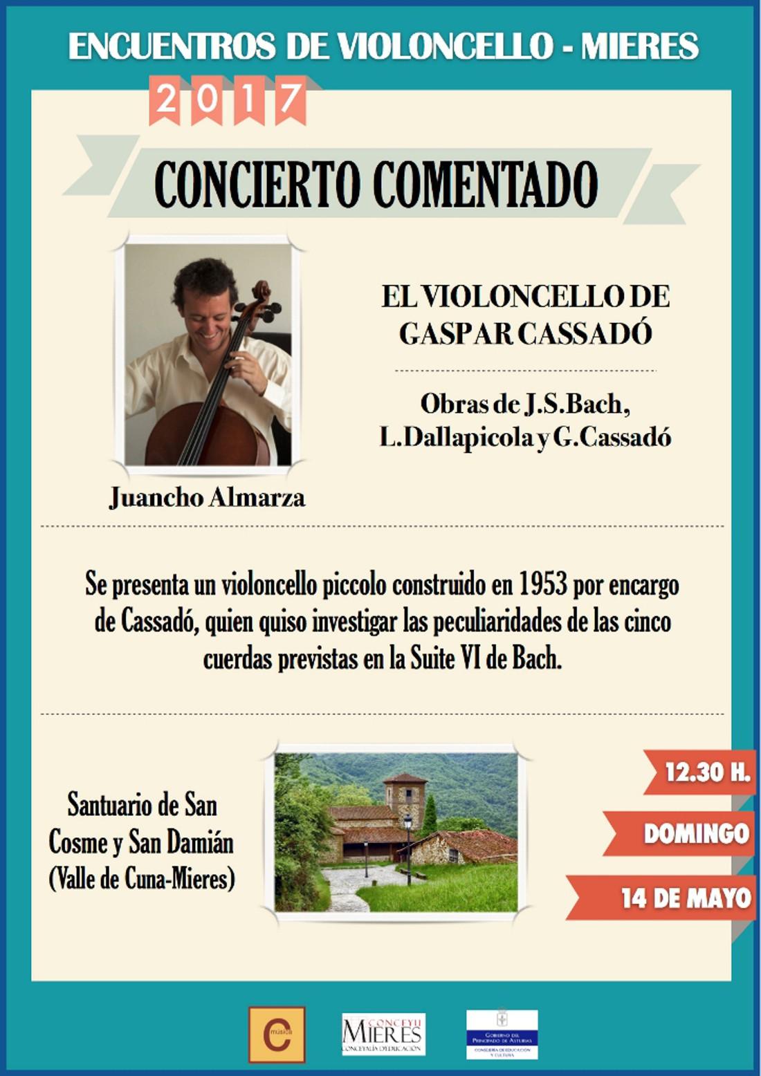 Cartel Concierto Violoncello Los Martires