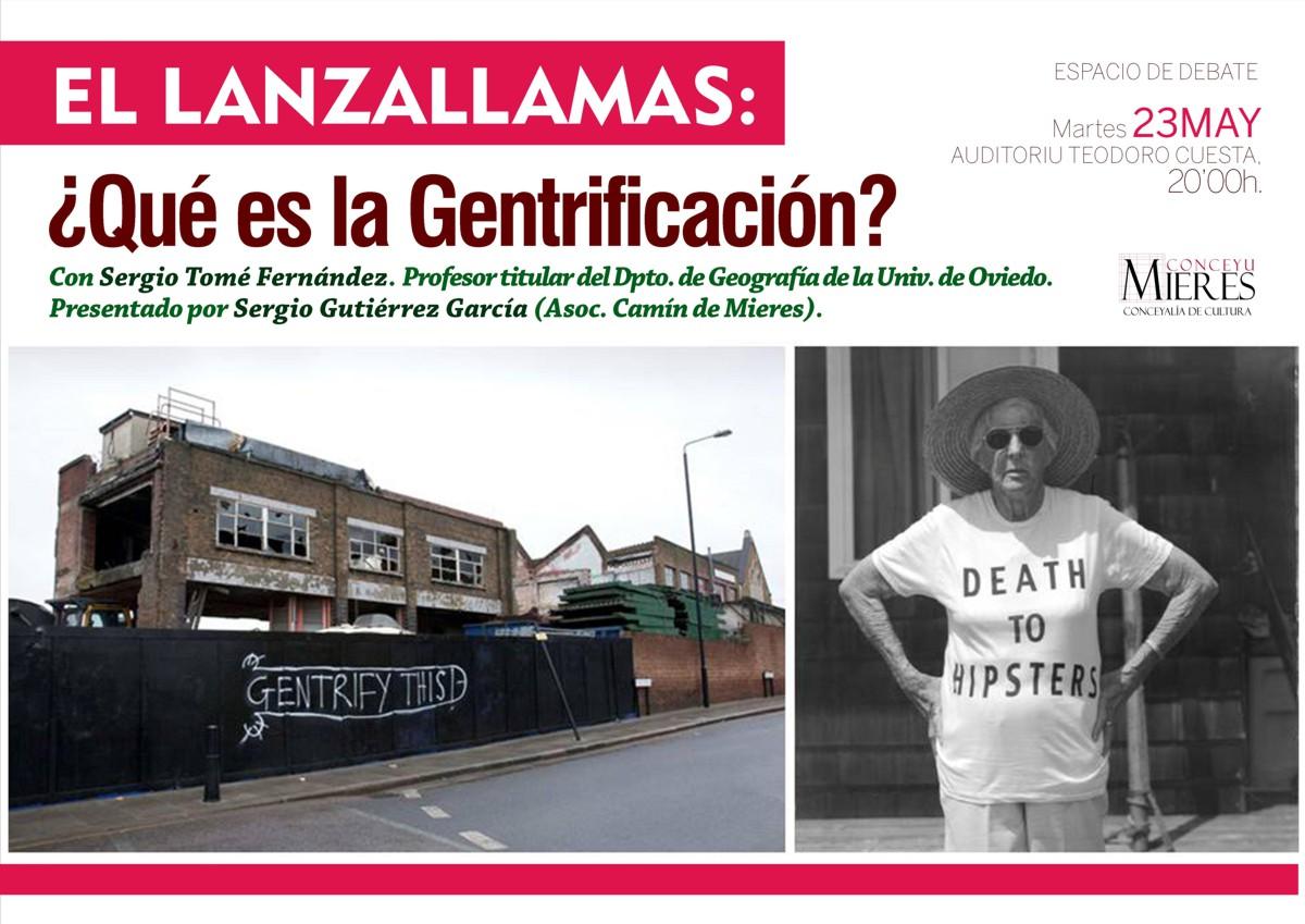 Cartel web El Lanzallamas Gentrificacion