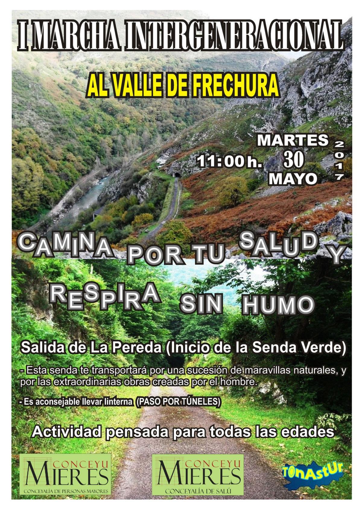 Cartel web I Marcha Intergeneracional LA PEREDA FRECHURA 30 -  5 - 2017