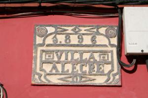 Inscripción Villa Alegre - Muries, Mieres