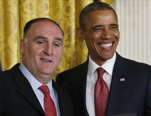 José Andrés con Barack Obama