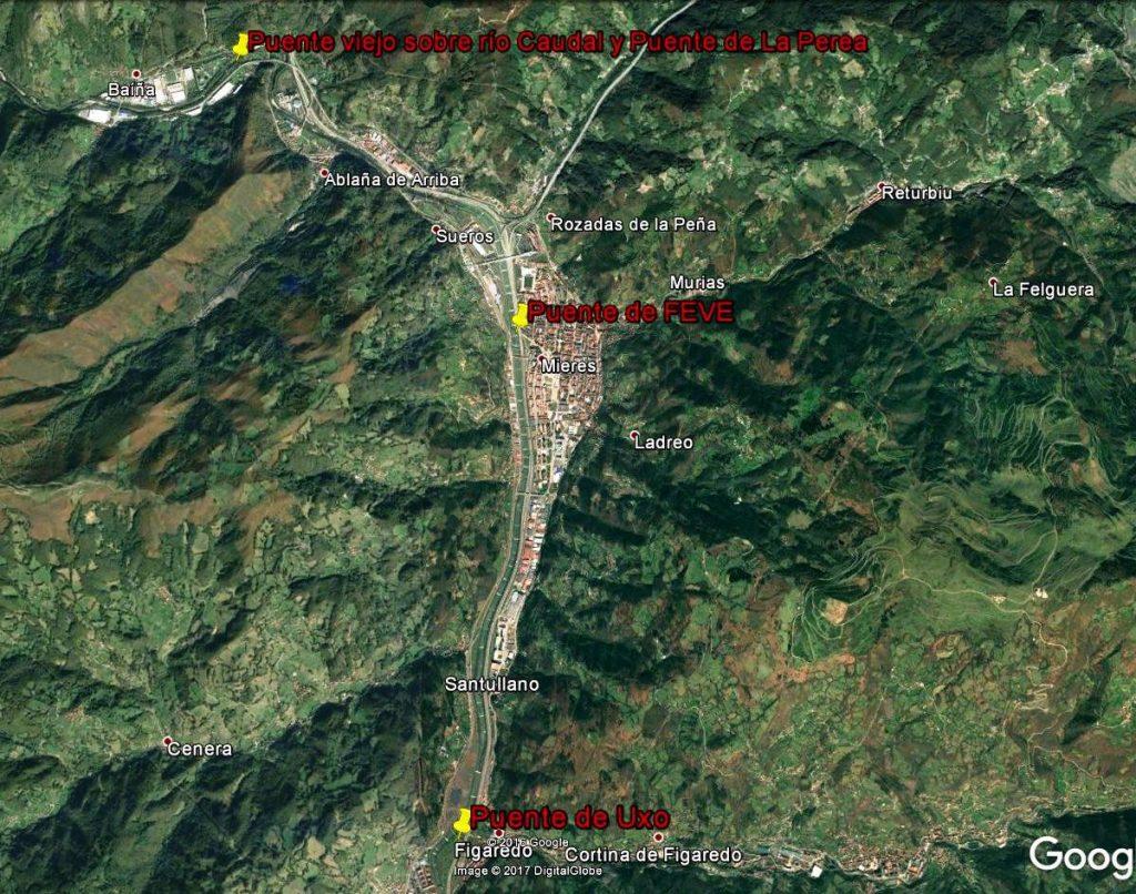 Localización de los puentes