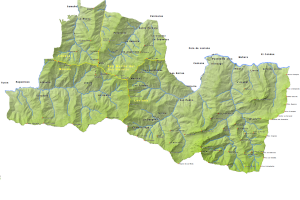 Mapa del Espacio protegido de las Cuencas Mineras.