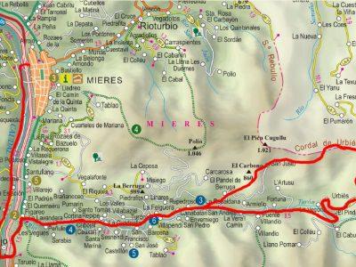 Mapa del circuito de San Xusto BTT-MI-4.