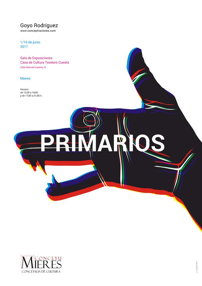 cartel exposicion Primarios Goyo Rodriguez
