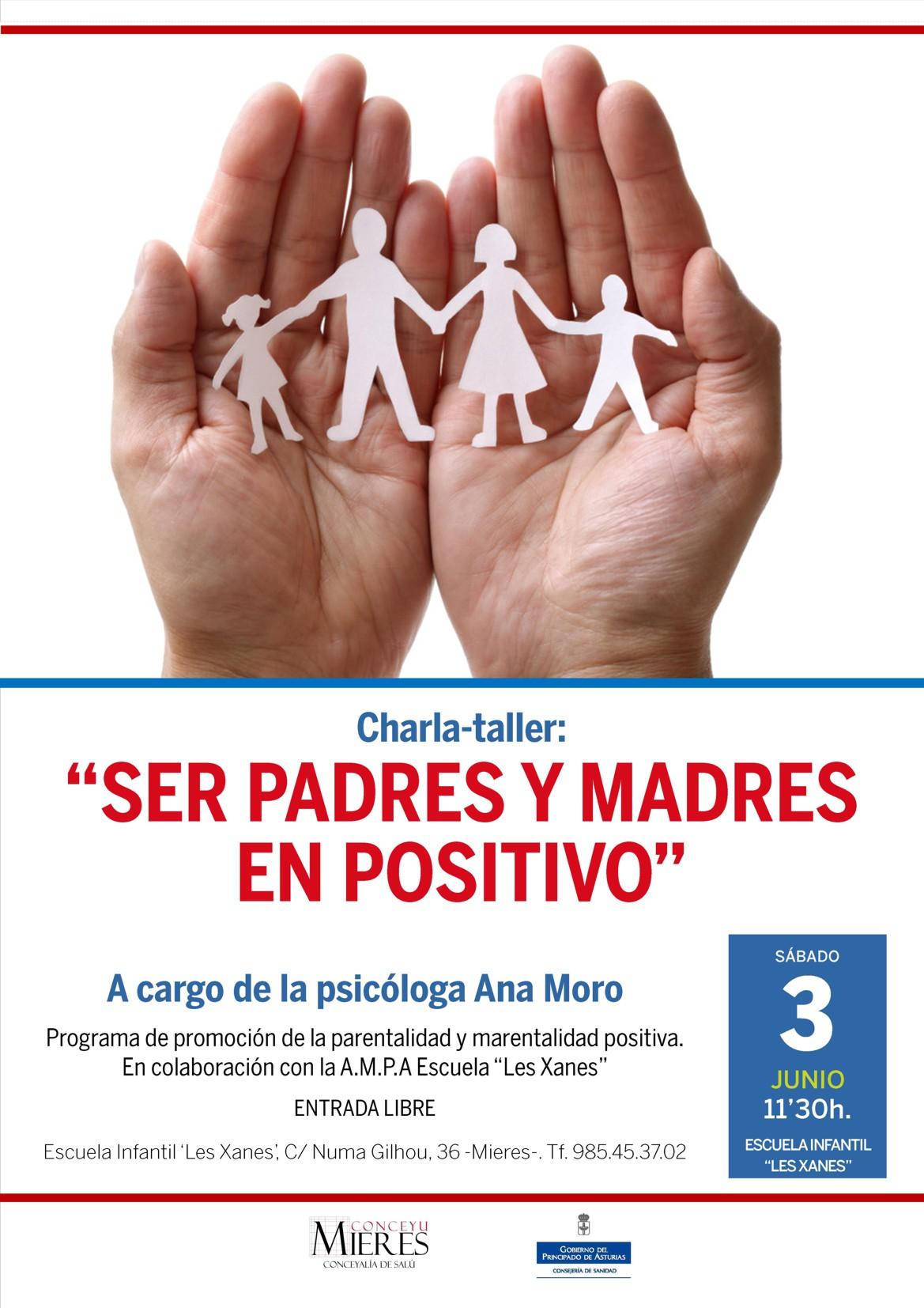 cartel web Charla Ser padres y madres en positivo 2017