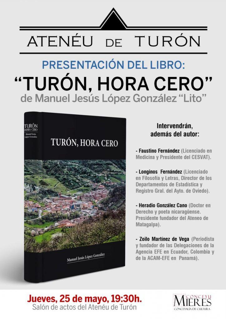cartel web Presentacion libro turon hora cero