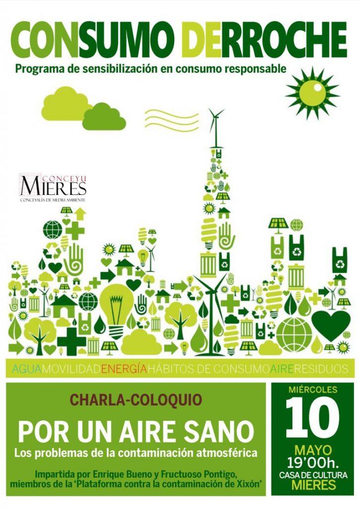 cartel web programa CONSUMO DERROCHE Por un aire sano