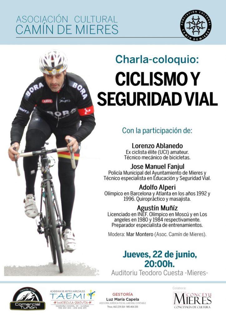 Cartel web Charla ciclismo educacion vial