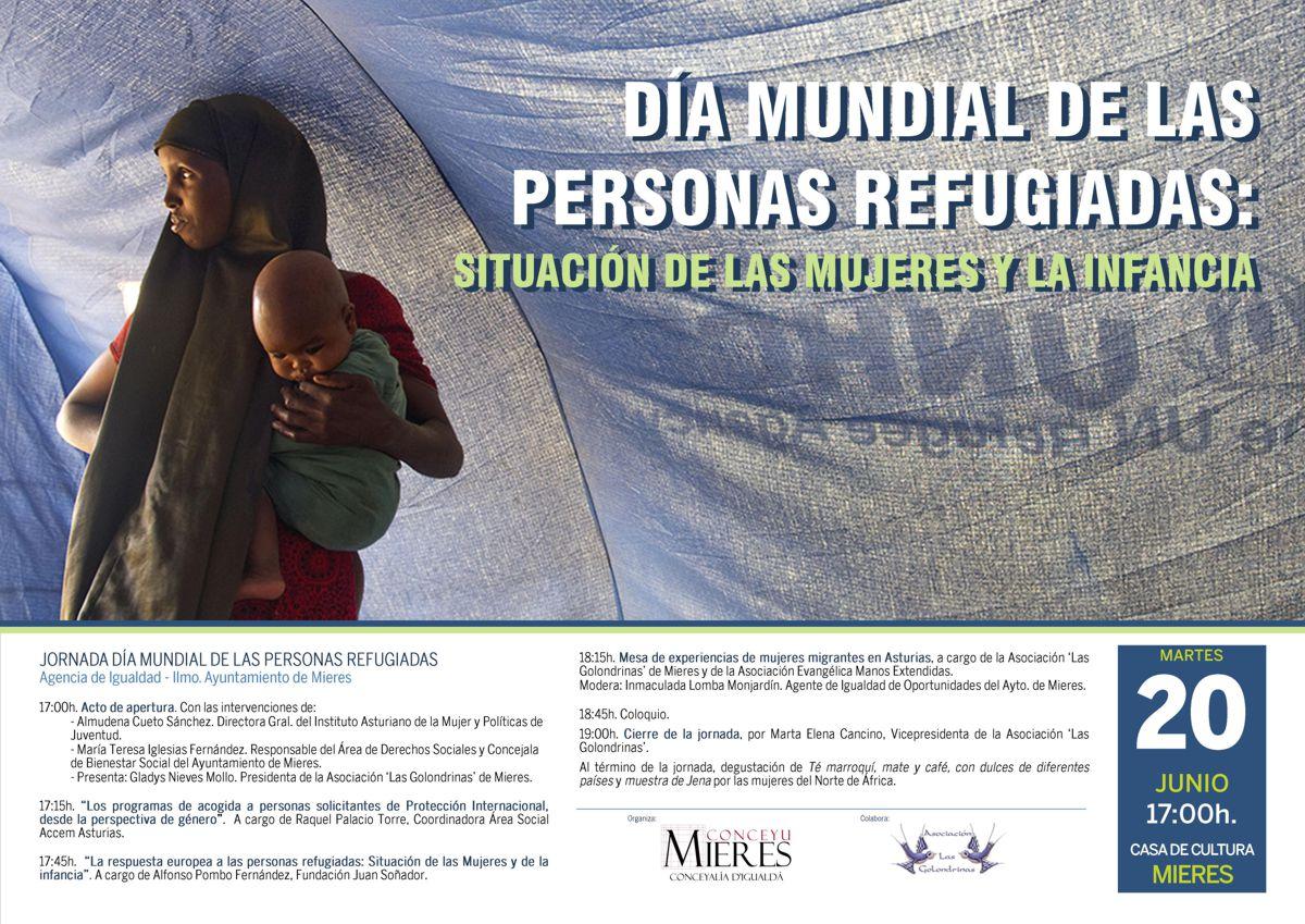 Cartel web Dia internacional de las personas refugiadas 2017-Mieres