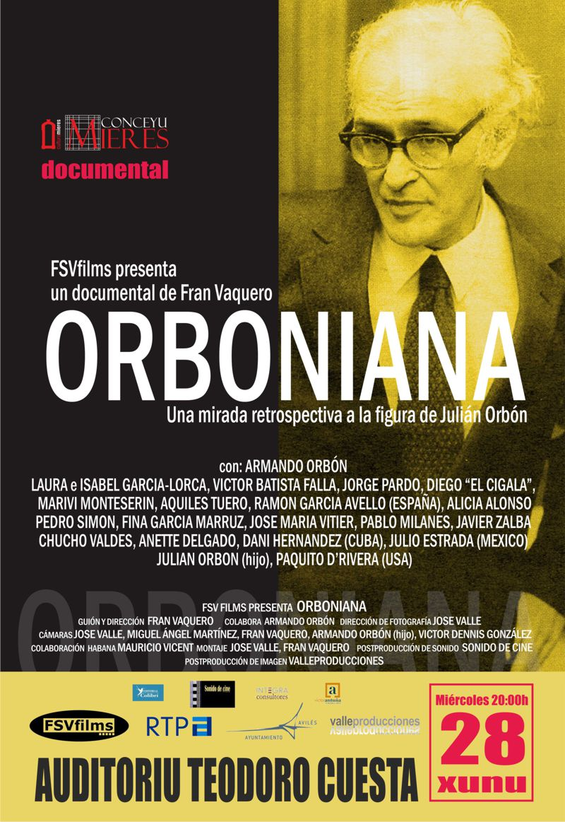 Cartel web documental Orboniana mieres