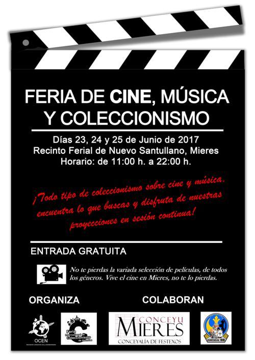 Cartel web feria de cine logo conceyu