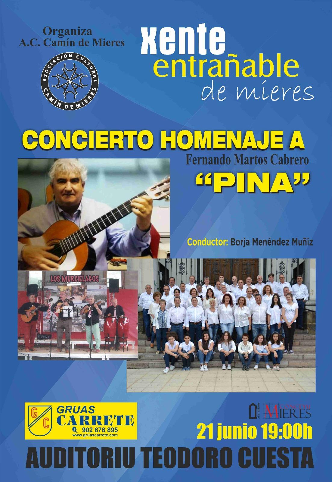 Cartel web homenaje a Pina