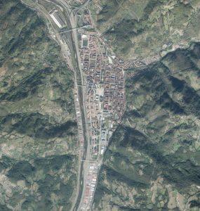 Fotografía aérea de Mieres del Camín