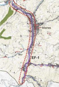 Mapa del río Caudal.