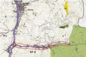 Mapa del recorrido del Río Turón.