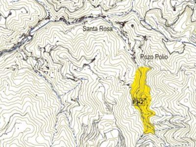 Mapa del valle del arroyo Polio.