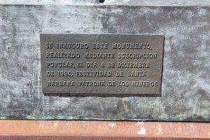 Placa 1996 Monumento Internacional al Minero