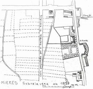 Plano de Sobrelavega 1894 (Fuente: Noticias históricas sobre Mieres y su concejo)