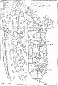 Plano catastral 1976 (Fuente: Noticias históricas sobre Mieres y su concejo)