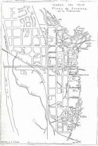 Plano de Mieres 1945 (Fuente: Noticias históricas sobre Mieres y su concejo)