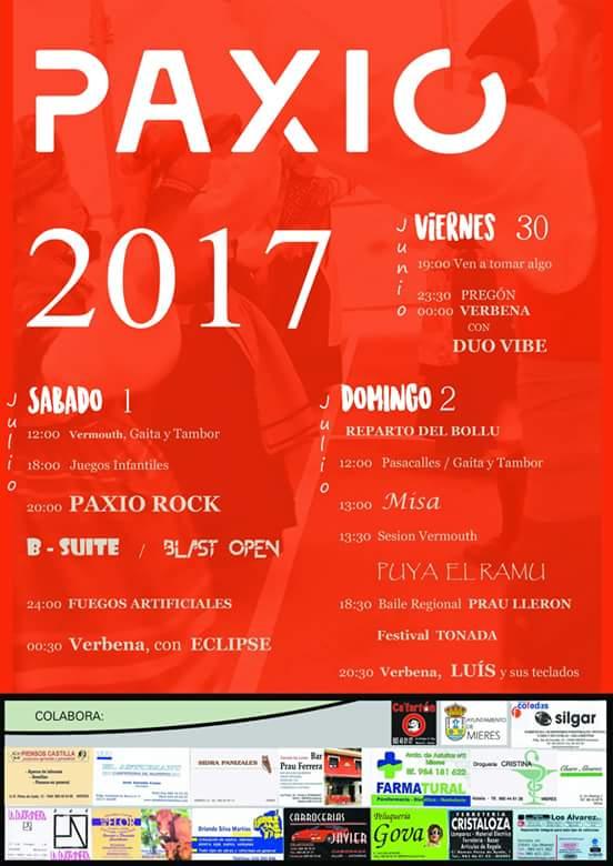 fiestas de paxio 2017