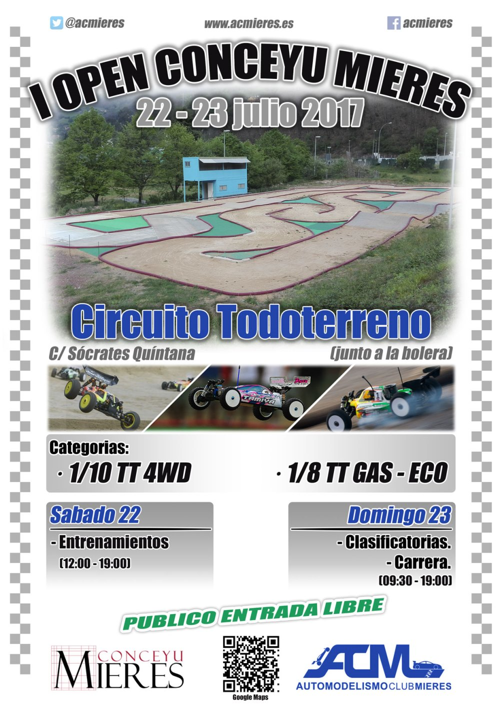 Cartel open automodelismo todoterreno