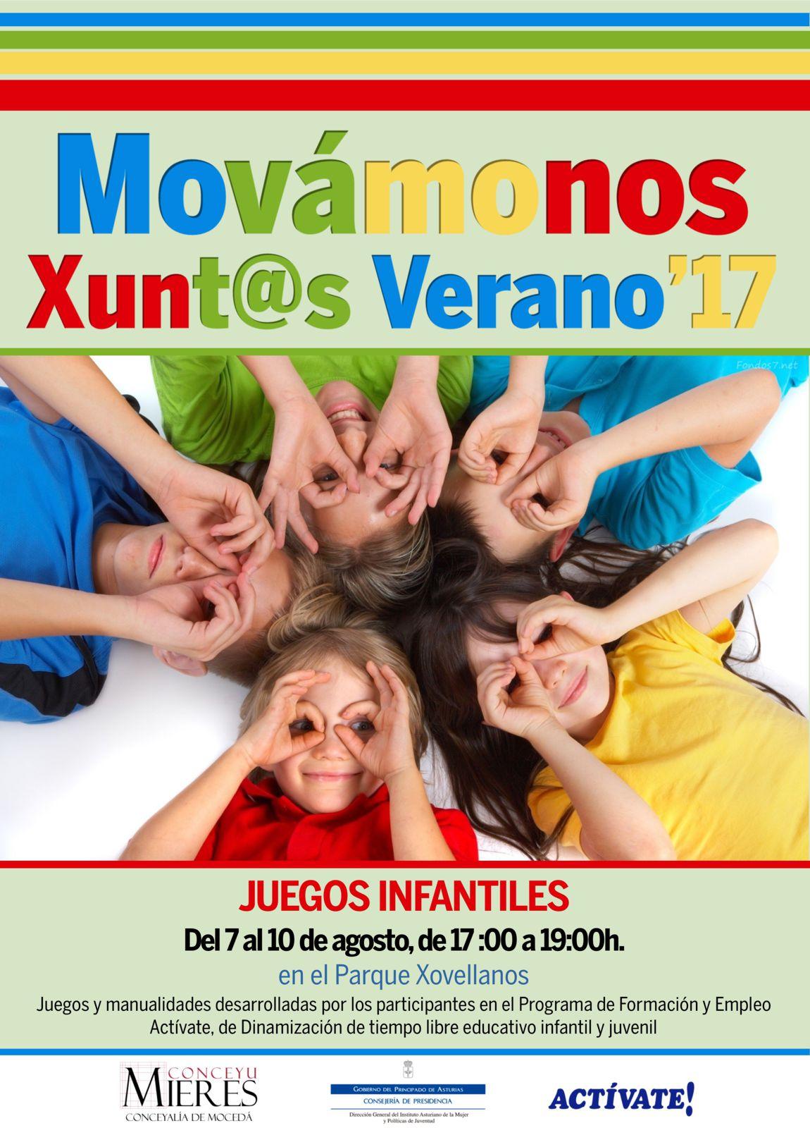 Cartel web Movamonos Xuntos verano 2017-Juegos Infantiles