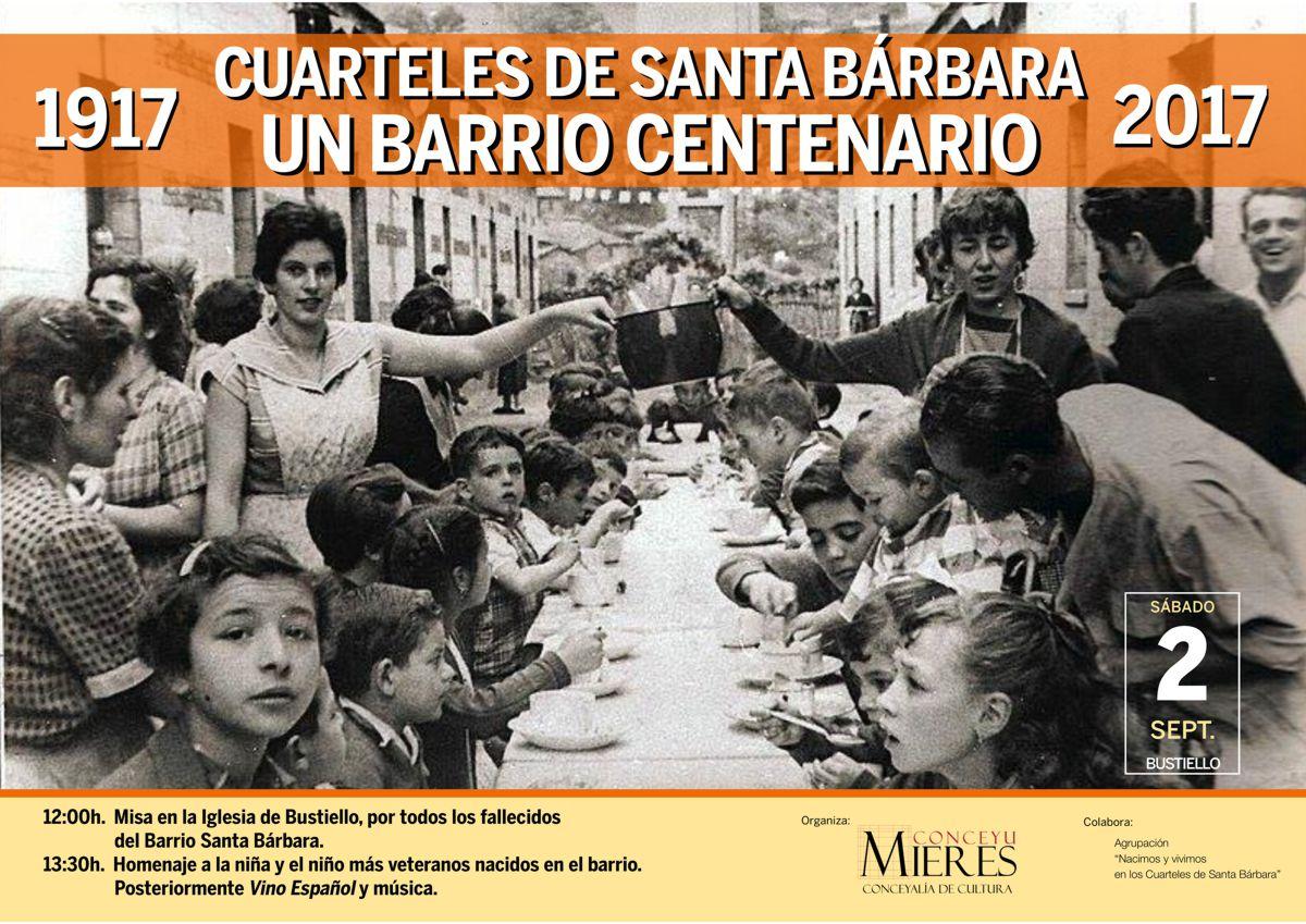 Cartel web centenario Cuarteles Santa Barbara