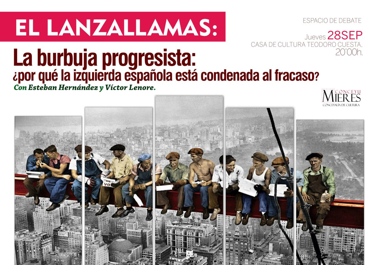 Cartel WEB El Lanzallamas La Burbuja progresista set2017