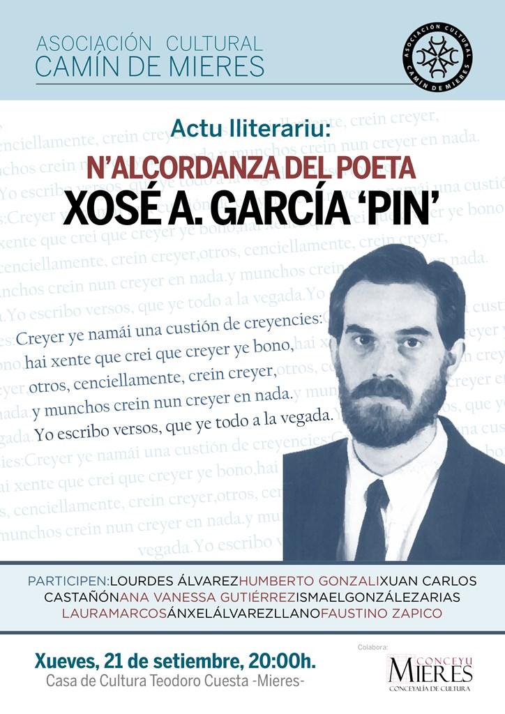 Cartel web Alcordanza Xose Antonio Garcia