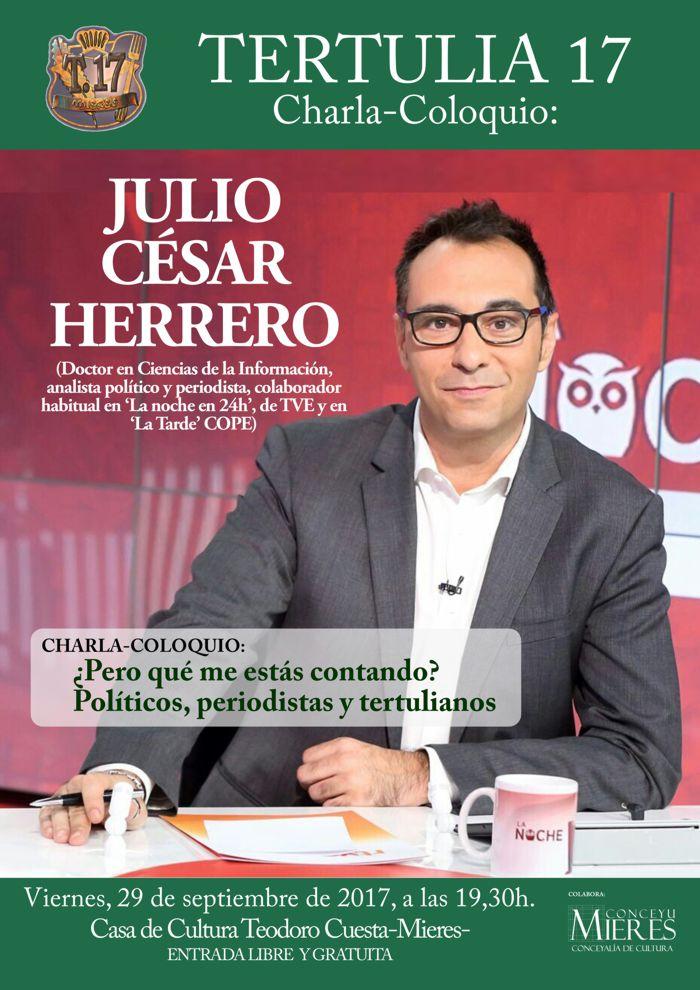 Cartel web Tertulia 17-Julio Cesar Herrero