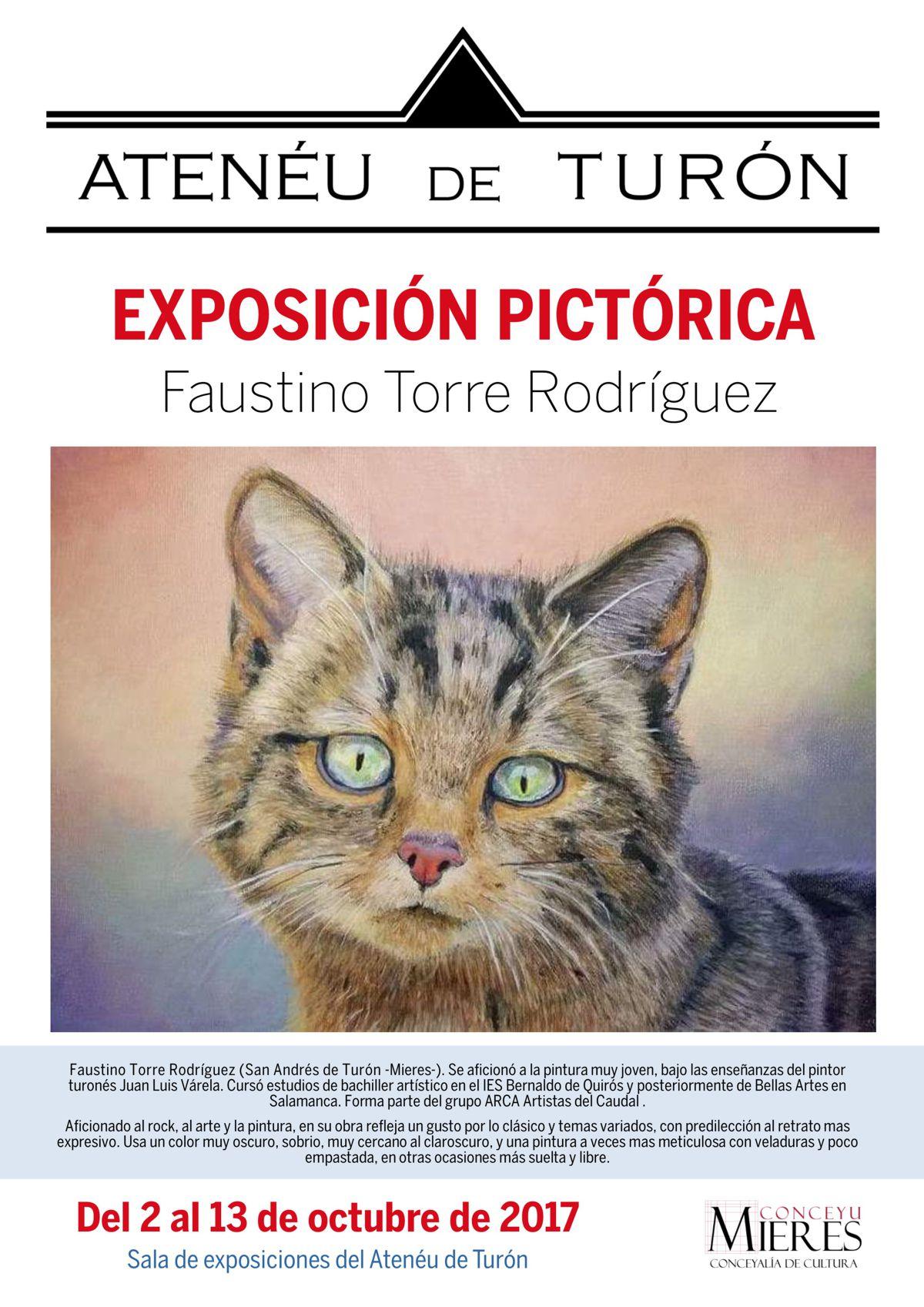cartel web Exposicion Pictorica Faustino Torre