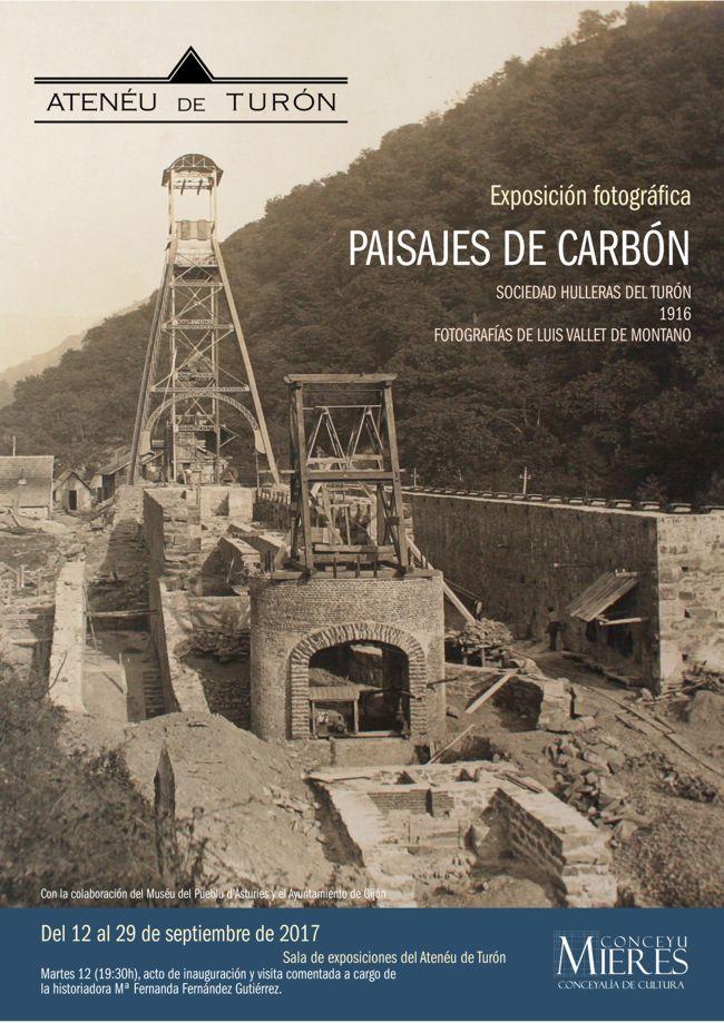 cartel web exposicion paisajes del carbon Turon