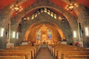 Complejo de la iglesia parroquial de la Sagrada, interior