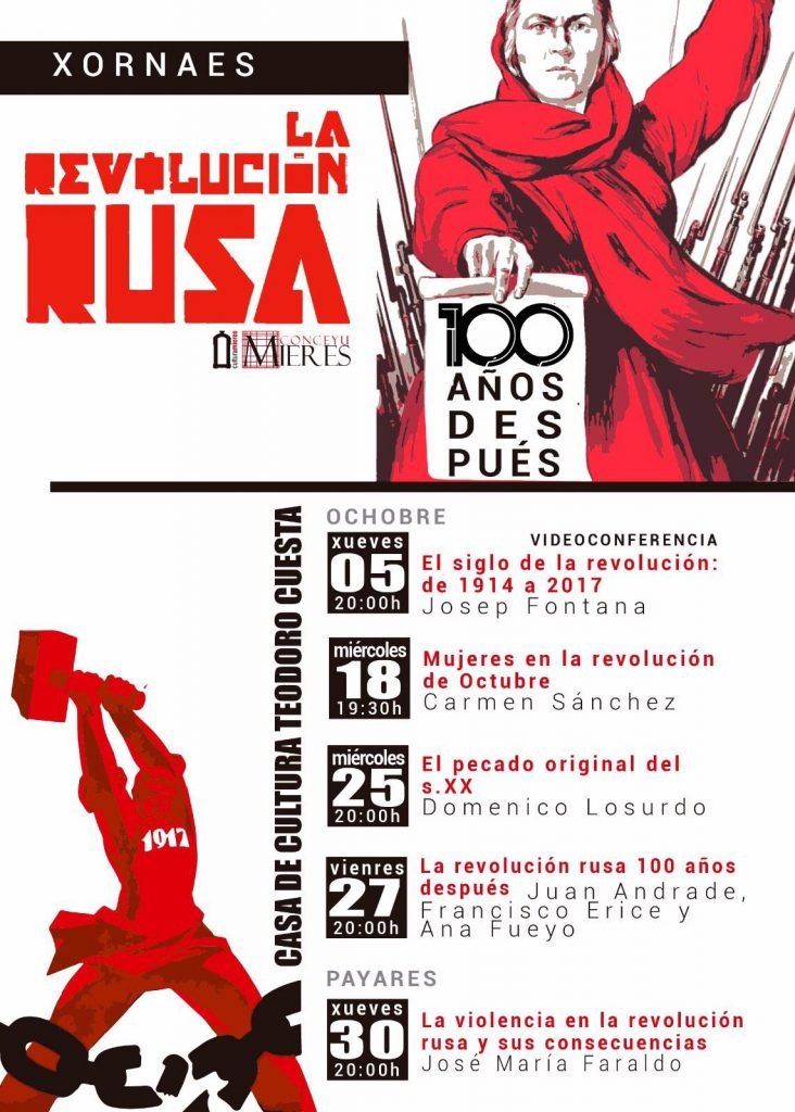 Cartel web El siglo de la revolucion