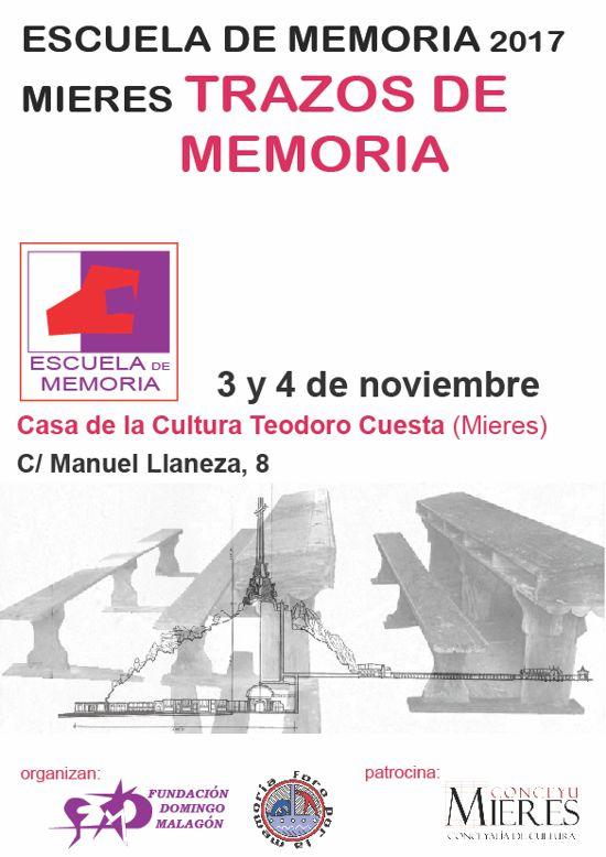 Cartel web Escuela de Memoria 2017