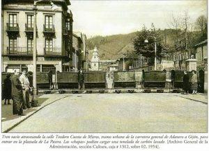 La llegada del ferrocarril a Mieres.