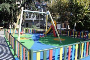 Parque infantil en los jardines de Juan XXIII.