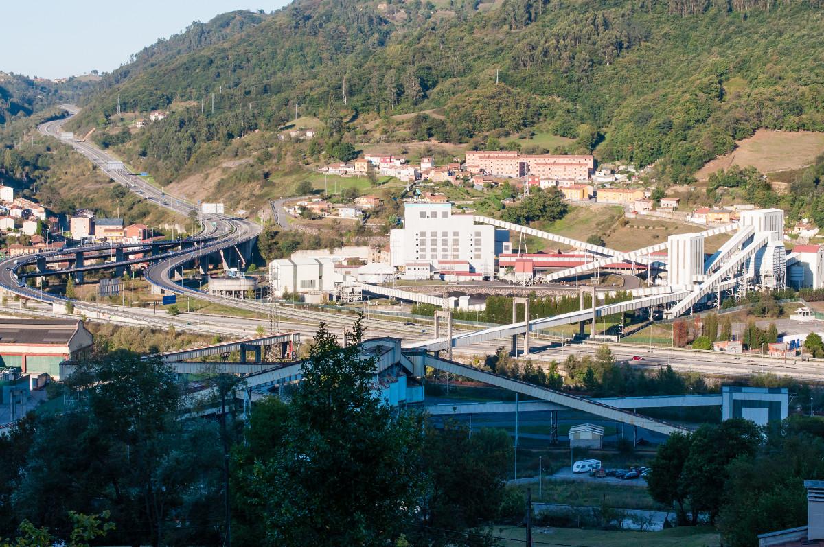 Vista al lavadero de Hunosa desde Siana (Fot. Jesús Blanco - AF Semeya)