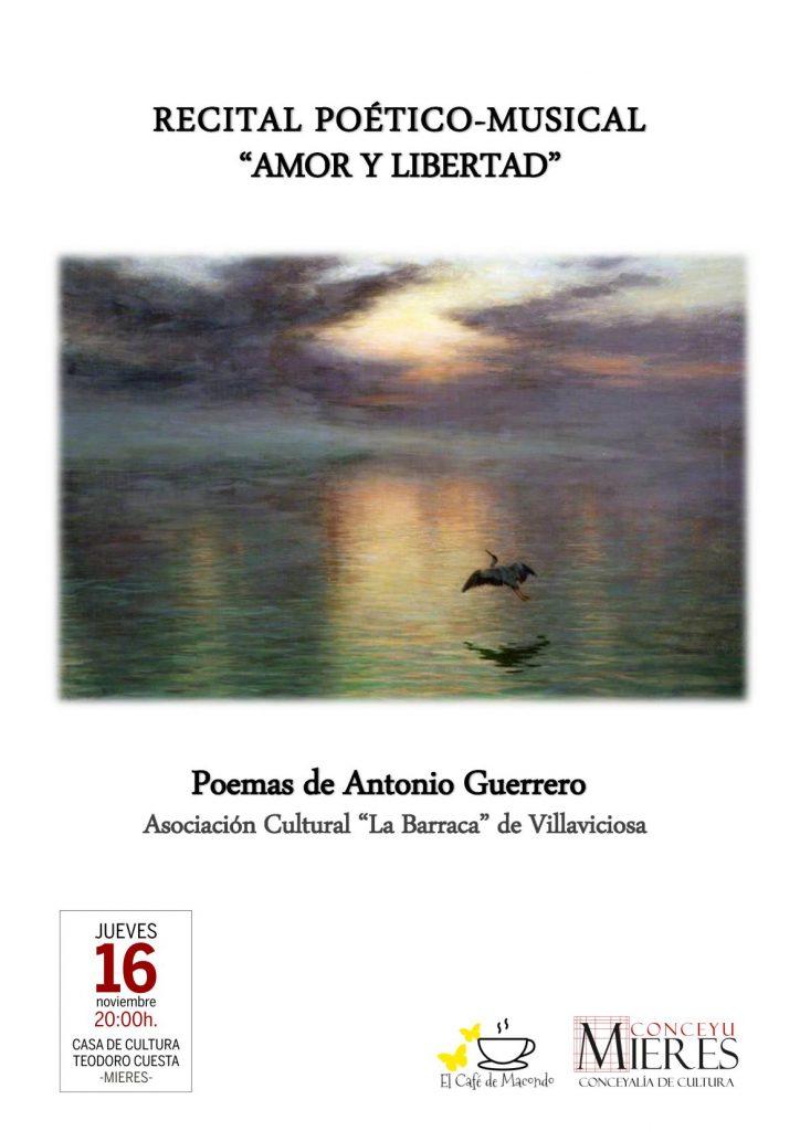cartel web Recital poetico Antonio Guerrero