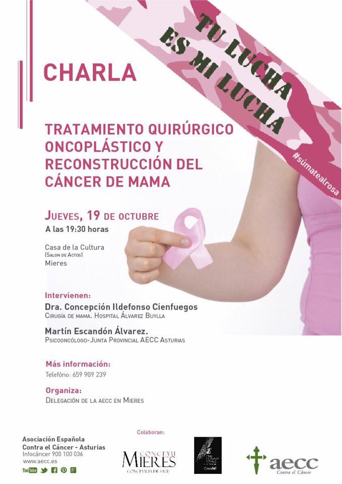charla cancer de mama mieres 2017