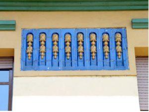 Detalle del Balcón del Chalet de los Geólogos