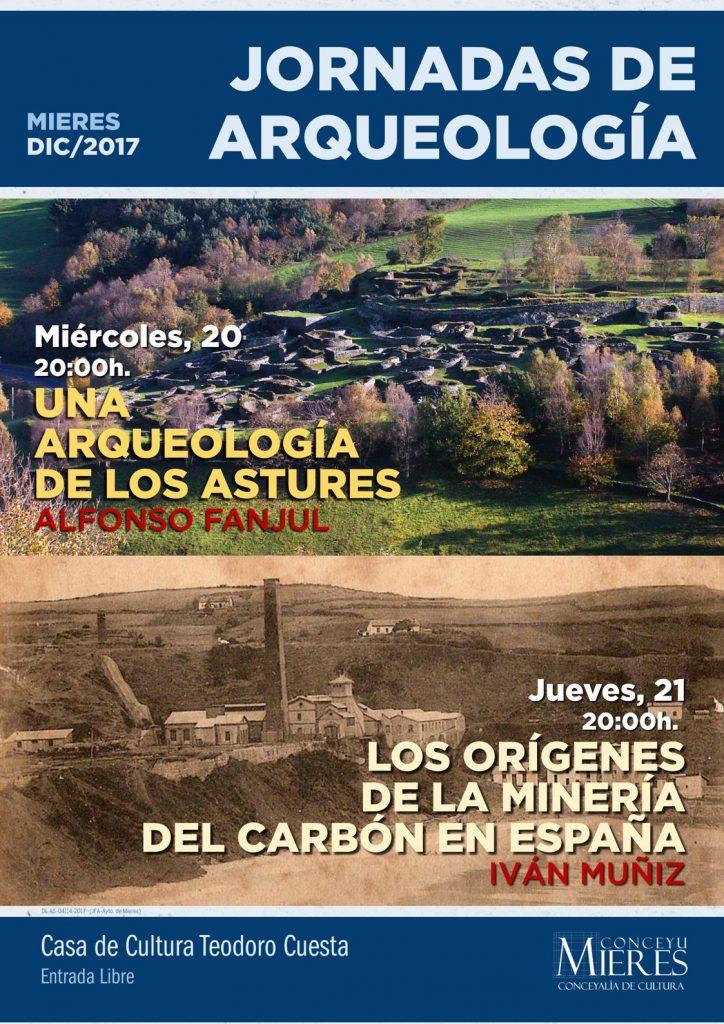 Cartel web Jornadas Arqueología 2017 Mieres