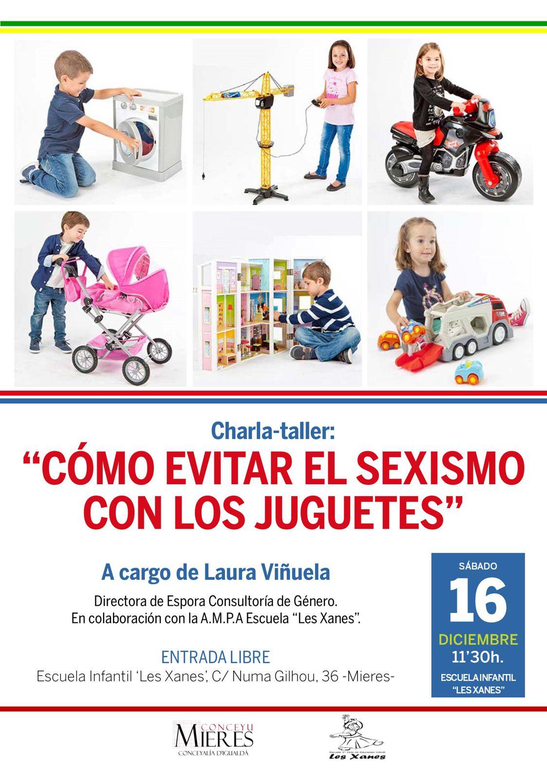 cartel web Charla Juguetes evitar sexismo Escuela Infantil Les Xanes