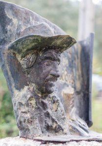 Detalle Escultura a Johnny Pistolas (Fot. Jesús Blanco - AF Semeya)