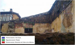 04-Pinturas murales El Llugarin-Localización de las escenas pictóricas en las fachadas SO y NO del inmueble