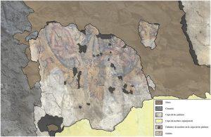 07-Pinturas murales El Llugarin-Estado de conservación y daños de la tercera escena