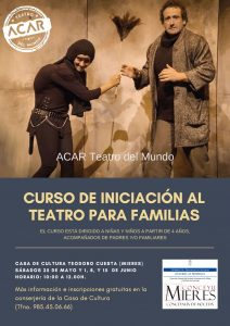 Cartel Web Curso Iniciación Al Teatro Para Familias