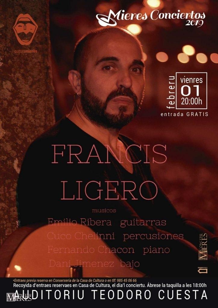 Cartel Web Concierto Francis Ligero Mieres